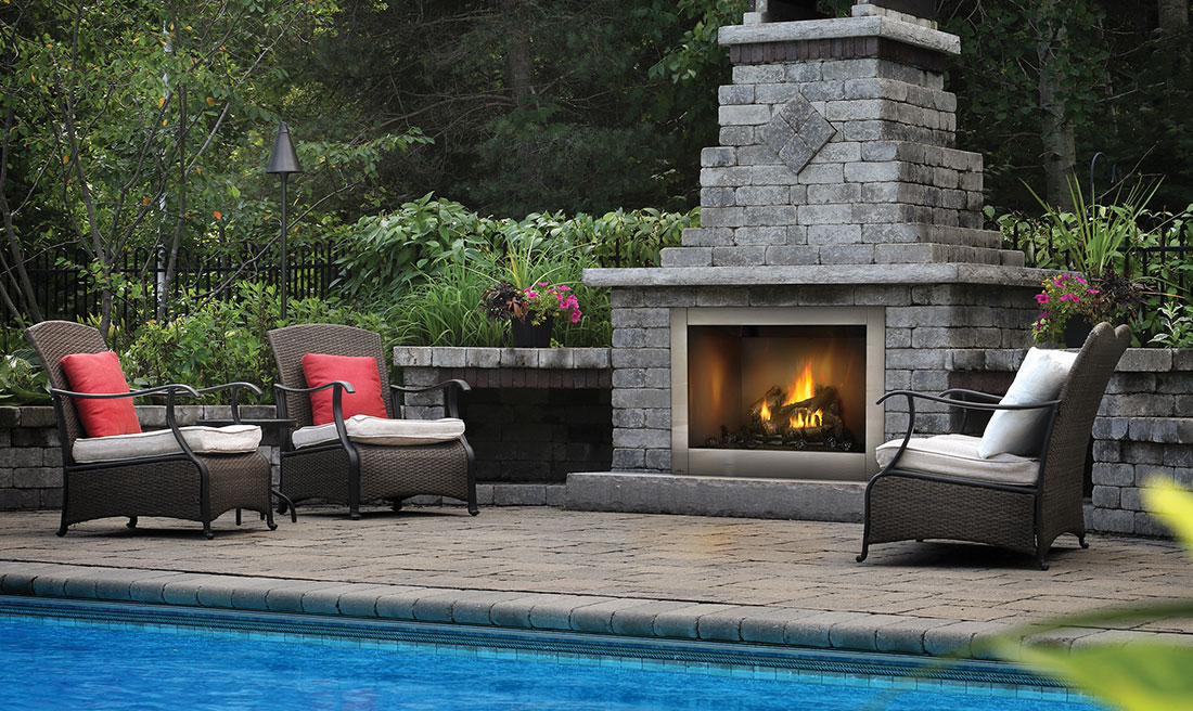 Napoleon Riverside 42 Clean Face Outdoor Fireplace Chadwick